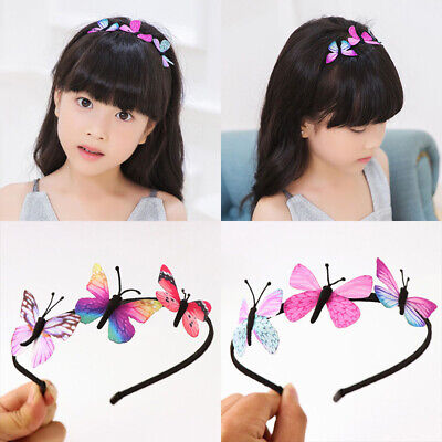 Girls Kids Butterfly Headband Party Hair Accessories Fairy Princess Hairbands
