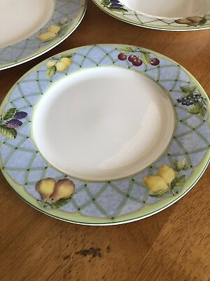 Mikasa Optima Y4001 Fruit Rapture Dinner Plates Set Of 6