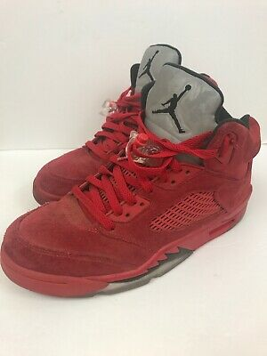 92c17c39bee 2017 Air Jordan V 5 Retro Flight Suit Red Suede Toro Size 9 136027-602