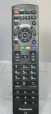 Genuine Panasonic Tv Remote Control N2Qayb001008 Dedicated Netflix Button