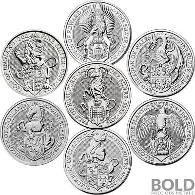 BOLD Set: Britain Queen's Beasts 7 Coin Collector Set