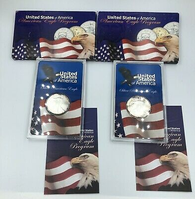 (2) 2005 American Eagles .999 Fine Silver American Eagle Program SEALED in Case
