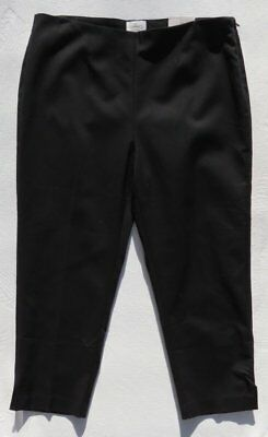 6d8ed199840bfa NEW $79 SO SLIMMING by CHICO'S Black Stretch Katharine Crop Pants size 2 12  14