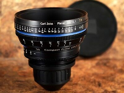 Zeiss 50mm T2.1 Planar T* CP.2 Compact Prime PL Mount (Feet Scale) Lens