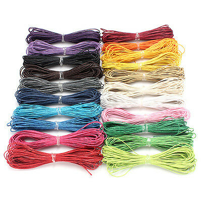 10M 1mm Waxed Cotton Cord DIY Jewelry String Linen Thread Wire Bracelet Making