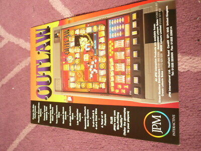 jpm Outlaw fruit machine flyer ..