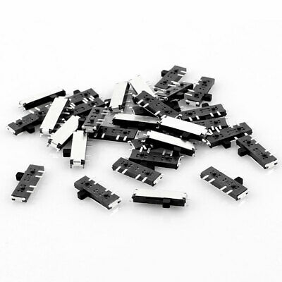 30 Pcs On/On/On 8 Pin 2P2T DPDT Miniature SMD SMT Slide Switch 10mm x 3mm
