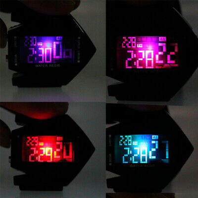 Men Compass Watch Countdown LED Digital Wrist Watches Outdoor Military Black CT