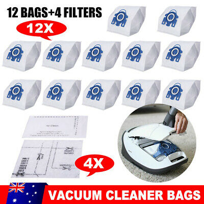 12 Vacuum Cleaner Bags 4 Filters for Miele GN C2 C3 S2 S5 S8 S5210 S5211 S8310