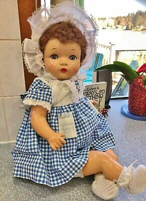 "1940s Beautiful Composition Baby Doll Flirty Eye 23.5"" Ideal Beatrix Horsman"