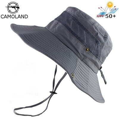 f0c067f9e909d UPF 50+ Bucket Hat Summer Fishing Boonie Hats UV Protection Large Wide Brim  Hats
