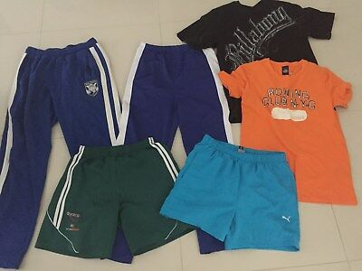 (6 x Items) Size S-M Boys Clothes Billabong,Hilfiger,Puma Shorts TrackpantsEUC