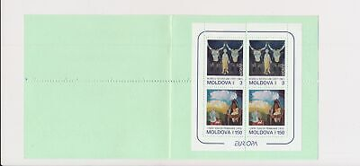 LJ74290 Moldova 1993 paintings Europa Cept fine booklet MNH