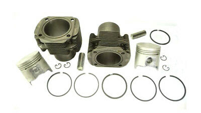 Paar 2 Stk Zylinder Kolben Fiat 500 D F L pair of new cylinder with piston