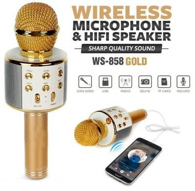 Microfono Portatile Wireless Con Bluetooth Karaoke Cassa Integrata Iphone Huawei