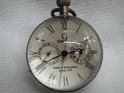 chinese old work BIG copper glass ball Multi-function pocket watch clock 2.6in