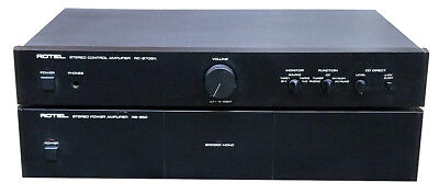 Rotel RC-870BX Stereo PreAmp and RB-850 Power Amplifier Combo