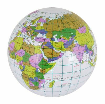 40CM Inflatable Globe Map Ball Atlas World Earth Geography Blow up Education Toy