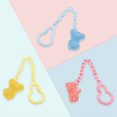 Baby Kids Infant Dummy Pacifier Soother Chain Clip Holder Toddler Silicone Toy