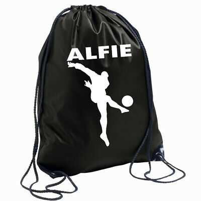 Boys School Bag Drawstring Backpack Gymsack Football Sports Kids Personalised