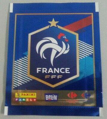 Panini Russia 2018 Wm Tüte Typ2 France Carrefour Market Logo Packet Bustine Pack
