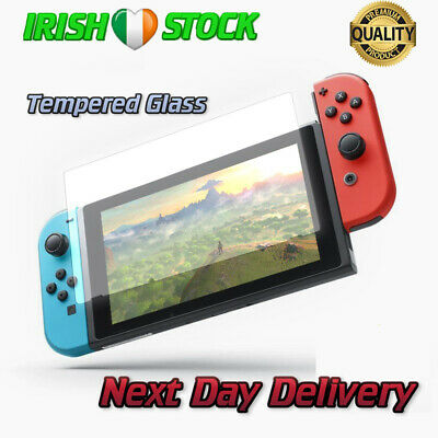Nintendo Switch Console Screen Protector Cover Premium Tempered Glass 9H