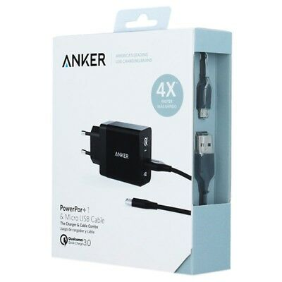 Anker PowerPort+ 1 QC 3.0 Micro USB Cable 0.9m EU Quick Charge 3.0 Wall Charger