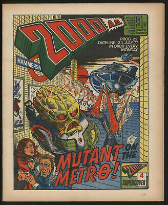 2000 Ad 22.  Early Judge Dredd. Original Owner Collection