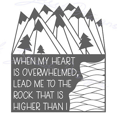 When My Heart Is Overwhelmed Lead Me To The Rock That Is Higher   - Decal  1190