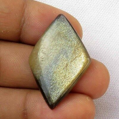 NATURAL SPARKLE SUNSTONE MOONSTONE GEMSTONE FANCY 34x21mm LOOSE CABOCHON MON-266