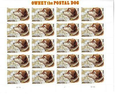 Us Scott 4547 Pane Of 20 Owney The Postal Dog Stamps Forever  Mnh