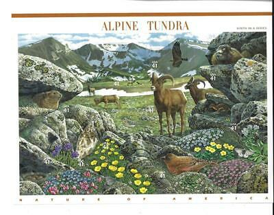 Us Scott 4198 Pane Of 10 Alpine Tundra Stamps 41 Cent Face  Mnh 9 In A Series