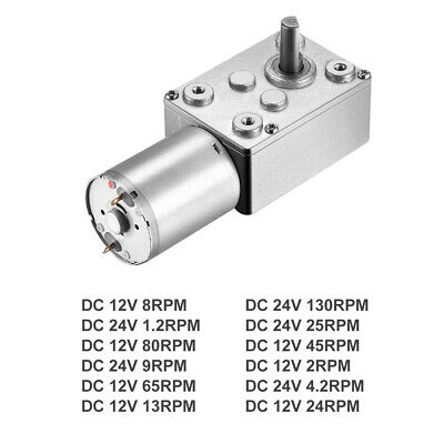 DC 12V/DC 24V 1.2-130RPM 6mm Shaft High Torque Turbine Worm Gear Motor Gearmotor