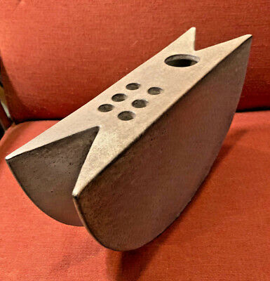 Alessio Tasca - Gray Sculptural Rocking Ceramic Vase - Italy with Paper Label