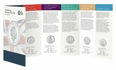 2019 50 Years of the 50p Uncirculated BUNC Kew Gardens Fifty Pence Coin Set