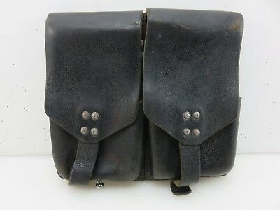 Austrian Army Military STG58 Leather Double 20 Round Magazine Ammo Pouch Black