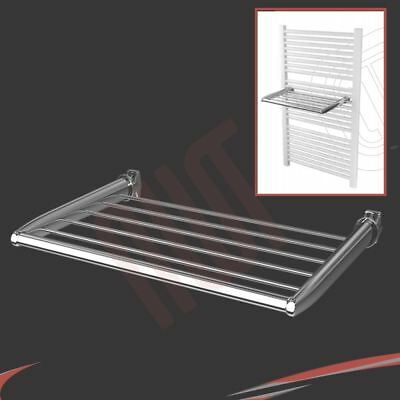 450mm(w) Chrome Towel Holder - Fixes directly to heated towel rails