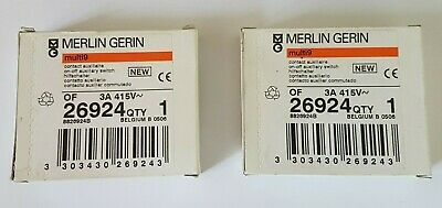 2 Bloc contact auxiliaire OF Merlin Gerin 26924 multi9 3A 415V