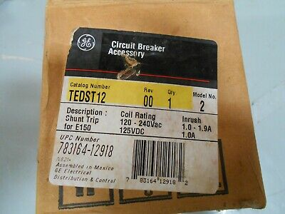 Ge Tedst12 Shunt Trip For E150  Coil 120-240 Vac