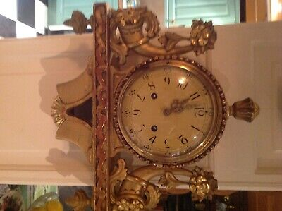 Swedish gilded wall clock
