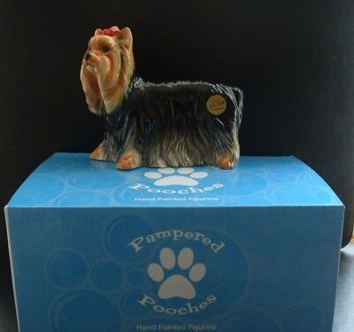 John Beswick porcelain Yorshire Terrier figurine-Pampered Pooches-new-boxed
