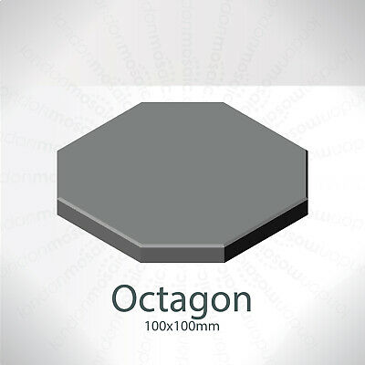5x Victorian Reproduction Floor tile 100mm x 100mm octagon - 3 Colours