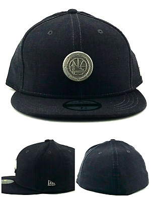newest 3b76d 5d160 Golden State Warriors New Era 59Fifty Black Label Metal Gray Fitted Hat 7  1 2