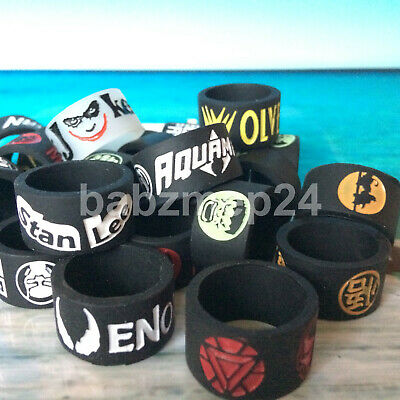 Rubber Silicone Vape Band Rings For SMOK Aspire Fatboy Any Glass Tank Superhero