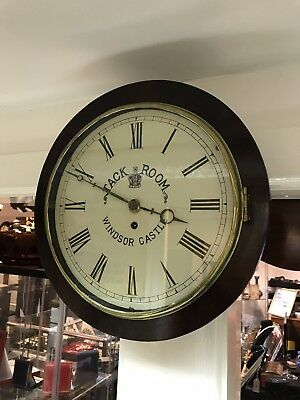 Antique English Fusee Dial Clock.