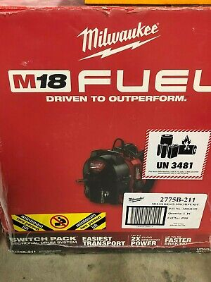 Brand New Milwaukee M18 Fuel Cordless Drain Cleaning Snake Switch Pack Drum Sys