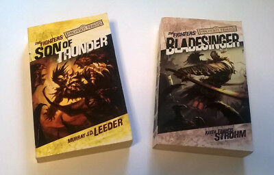 2 x FIGHTERS Series Books by STROHM & LEEDER Forgotten Realms WOTC