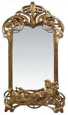Mirror cosmetic mirror table mirror art nouveau antique style 50cm a
