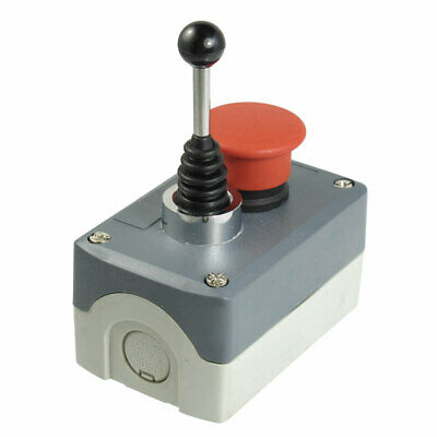 240V 3A Momentary 2-Direction Joystick Red Mushroom Push Button Switch Station