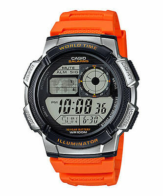 Casio AE1000W-4BV, Watch, 100M, 5 Alarms, Chronograph, Resin, 10 Year Battery